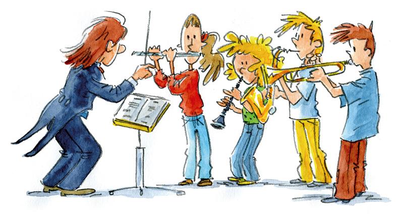 Illustratie blazersklas Samen leren samenspelen